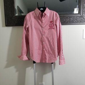 Lauren Ralph Lauren red &white stripes PM blouse